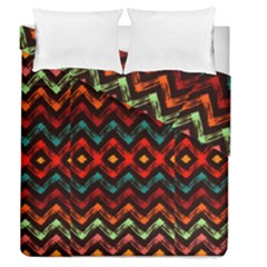Seamless Native Zigzags By Flipstylez Designs Duvet Cover Double Side (queen Size) by flipstylezdes