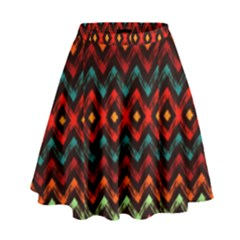 Seamless Native Zigzags By Flipstylez Designs High Waist Skirt