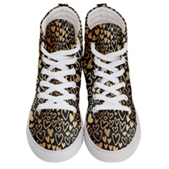 Cluster Of Tiny Gold Hearts Seamless Vector Design By Flipstylez Designs Women s Hi Top Skate Sneakers