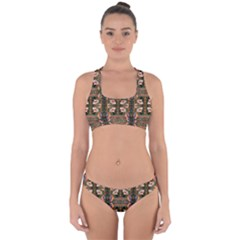 D 7 Cross Back Hipster Bikini Set