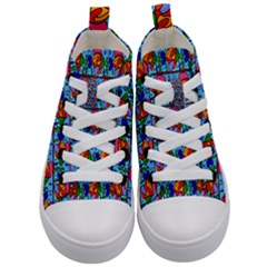 Fish Kid s Mid Top Canvas Sneakers