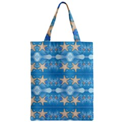 Adorably Cute Beach Party Starfish Design Zipper Classic Tote Bag by flipstylezdes