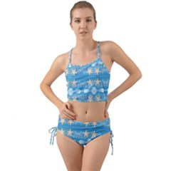 Adorably Cute Beach Party Starfish Design Mini Tank Bikini Set