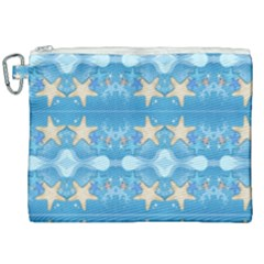 Adorably Cute Beach Party Starfish Design Canvas Cosmetic Bag (xxl) by flipstylezdes