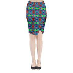 D 7 Midi Wrap Pencil Skirt