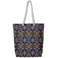 D 9 Full Print Rope Handle Tote (small)