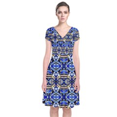 1 Short Sleeve Front Wrap Dress