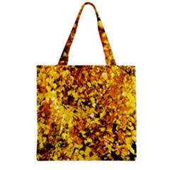 Birch Tree Yellow Leaves Grocery Tote Bag by FunnyCow