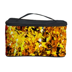 Birch Tree Yellow Leaves Cosmetic Storage Case by FunnyCow