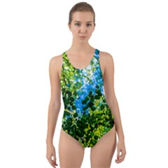 Forest   Strain Towards The Light Cut Out Back One Piece Swimsuit