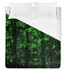 Emerald Forest Duvet Cover (queen Size) by FunnyCow