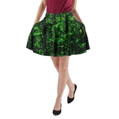 Emerald Forest A Line Pocket Skirt by FunnyCow