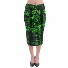 Emerald Forest Midi Pencil Skirt by FunnyCow