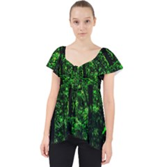 Emerald Forest Lace Front Dolly Top