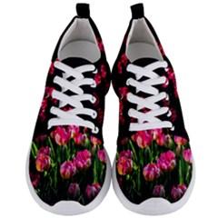 Pink Tulips Dark Background Men s Lightweight Sports Shoes