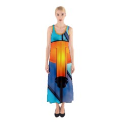 Orange Light Sleeveless Maxi Dress