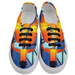 Orange Light Women s Classic Low Top Sneakers