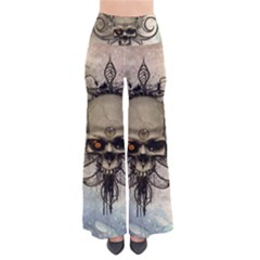 Awesome Creepy Skull With  Wings So Vintage Palazzo Pants by FantasyWorld7