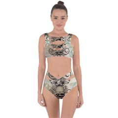 Awesome Creepy Skull With  Wings Bandaged Up Bikini Set  by FantasyWorld7
