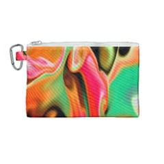 Catch The Waves Smoky Red Orange Haze  Canvas Cosmetic Bag (medium) by flipstylezdes