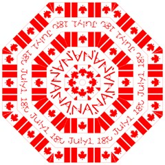 Canada Day Maple Leaf Canadian Flag Pattern Typography  Straight Umbrellas