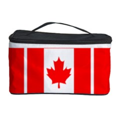 Canada Day Maple Leaf Canadian Flag Pattern Typography  Cosmetic Storage Case