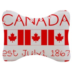 Canada Day Maple Leaf Canadian Flag Pattern Typography  Velour Seat Head Rest Cushion