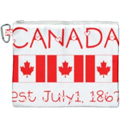 Canada Day Maple Leaf Canadian Flag Pattern Typography  Canvas Cosmetic Bag (xxxl)