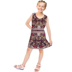 Roses Floral Wallpaper Flower Kids  Tunic Dress