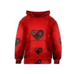 Wonderful Heart On Vintage Background Kids  Pullover Hoodie by FantasyWorld7