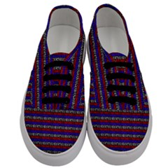 French Revolution Typographic Pattern Design 2 Men s Classic Low Top Sneakers