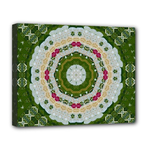 Fantasy Jasmine Paradise Love Mandala Deluxe Canvas 20  X 16   by pepitasart