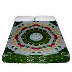 Fantasy Jasmine Paradise Love Mandala Fitted Sheet (california King Size)