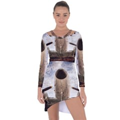 Legend Of The Sky Asymmetric Cut Out Shift Dress by FunnyCow