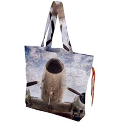 Legend Of The Sky Drawstring Tote Bag by FunnyCow