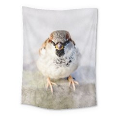 Do Not Mess With Sparrows Medium Tapestry