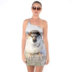 Do Not Mess With Sparrows One Soulder Bodycon Dress