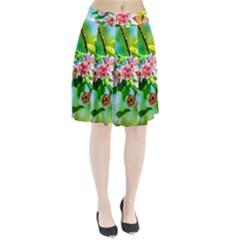 Crab Apple Flowers Pleated Skirt