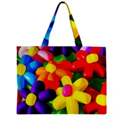 Toy Balloon Flowers Zipper Mini Tote Bag by FunnyCow