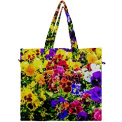 Viola Tricolor Flowers Canvas Travel Bag by FunnyCow