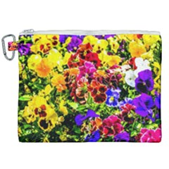 Viola Tricolor Flowers Canvas Cosmetic Bag (xxl) by FunnyCow