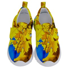 Yellow Maple Leaves Velcro Strap Shoes