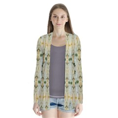 Fantasy Jasmine Paradise Bloom Drape Collar Cardigan
