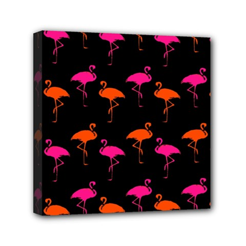 Flamingos Tropical Sunset Colors Flamingo Mini Canvas 6  X 6