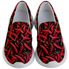 Red Chili Peppers Pattern Kid s Lightweight Slip Ons