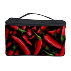 Red Chili Peppers Pattern Cosmetic Storage Case by bloomingvinedesign