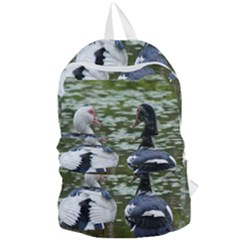 Muscovy Ducks At The Pond Foldable Lightweight Backpack by ImphavokImpressions