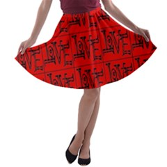Love 1 A Line Skater Skirt by ArtworkByPatrick1