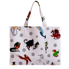 Dundgeon And Dragons Dice And Creatures Zipper Mini Tote Bag by ImphavokImpressions