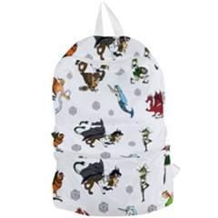 Dundgeon And Dragons Dice And Creatures Foldable Lightweight Backpack by ImphavokImpressions